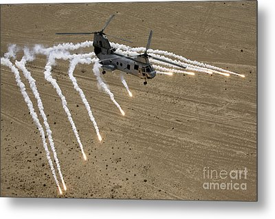 A U.s. Marine Corps Ch-46 Sea Knight Metal Print by Stocktrek Images