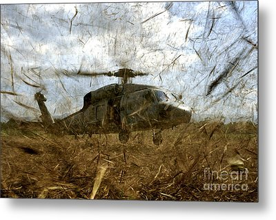 A U.s. Navy Hh-60 Seahawk Stirs Metal Print by Stocktrek Images