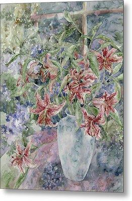 A Vase Of Lilies Metal Print