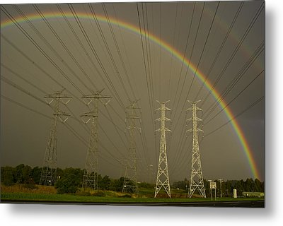 A Vast Array Of Electrical Towers Metal Print by Jason Edwards