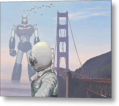 A Very Large Robot Metal Print by Scott Listfield