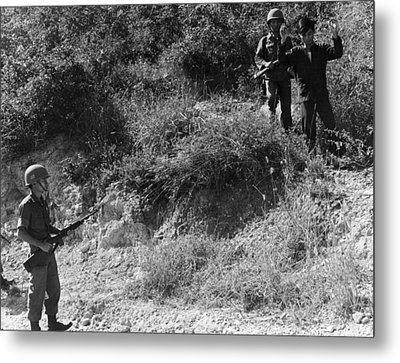 A Viet Cong Surrenders Metal Print by Underwood Archives
