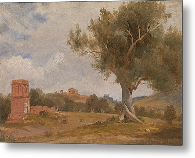 A View At Girgenti In Sicily With The Temple Of Concord And Juno By Charles Lock Eastlake, Circa 181 Metal Print