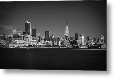 A View From Across The Hudson Metal Print by Eduard Moldoveanu