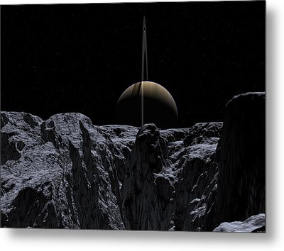 Metal Print featuring the digital art A View From Rhea by David Robinson