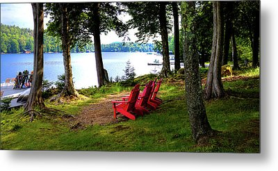 Metal Print featuring the photograph A View Of Big Moose Lake by David Patterson