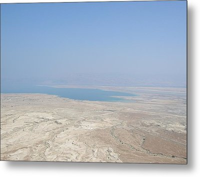 A View Of The Dead Sea From Masada Metal Print by Susan Heller