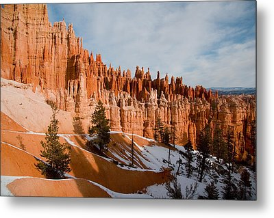 A View Of The Hoodoos And Other Eroded Metal Print by Taylor S. Kennedy
