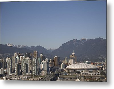 A View Of The Skyline Of Vancouver, Bc Metal Print by Taylor S. Kennedy
