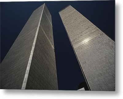 A View Of The Twin Towers Of The World Metal Print