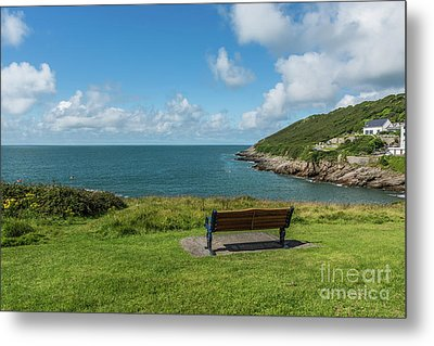 A View Over Limeslade Bay Metal Print by Steve Purnell