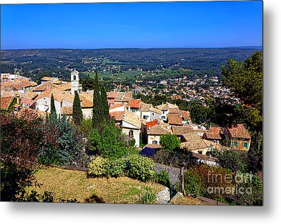 Metal Print featuring the photograph A Village In Provence by Olivier Le Queinec