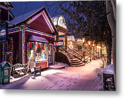 A Walk In The Snow Metal Print by Michael J Bauer