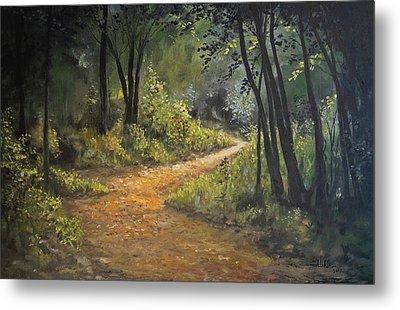 A Walk In The Woods Metal Print by Alan Lakin
