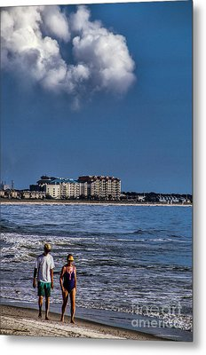 A Walk On The Beach Metal Print by Dave Bosse