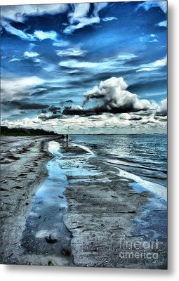 A Walk On The Beach Metal Print by Jeff Breiman