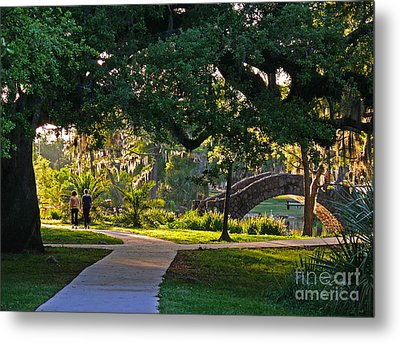 A Walk Though The Park Metal Print by Jeanne  Woods