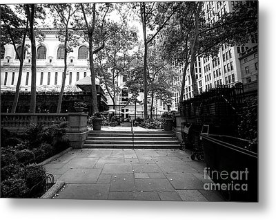 Metal Print featuring the photograph A Walk Through Bryant Park by John Rizzuto