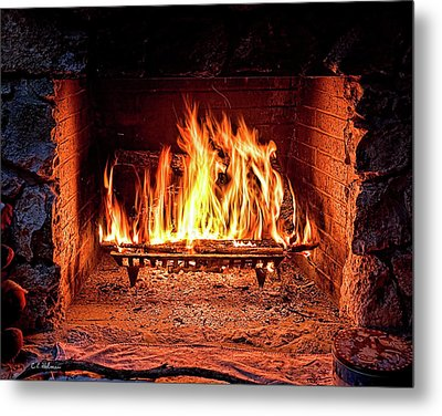 A Warm Hearth Metal Print
