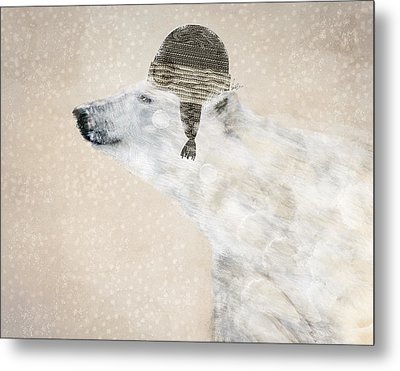 A Warm Polar Bear Metal Print by Bri B