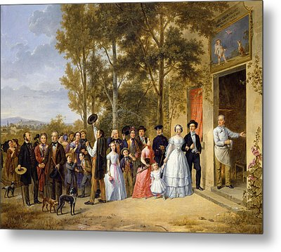 A Wedding At The Coeur Volant Metal Print by French School