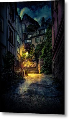 Metal Print featuring the photograph A Wet Evening In Marburg by David Morefield