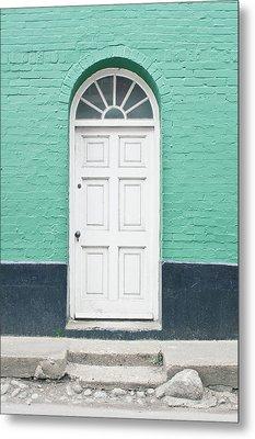 A White Door Metal Print by Tom Gowanlock