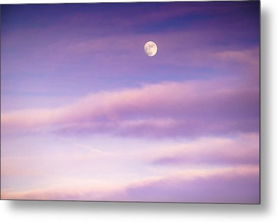 A White Moon In Twilight Metal Print by Ellie Teramoto