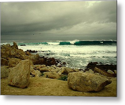 Metal Print featuring the photograph A Winter Day At The Beach by Joyce Dickens