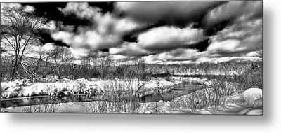 Metal Print featuring the photograph A Winter Panorama by David Patterson