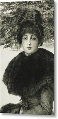 A Winter's Walk Metal Print by James Jacques Joseph Tissot