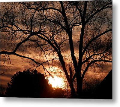 A Wisconsin Sunset Metal Print by William Presley
