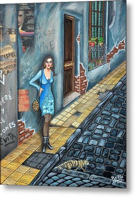 A Woman In Buenos Aires II Metal Print