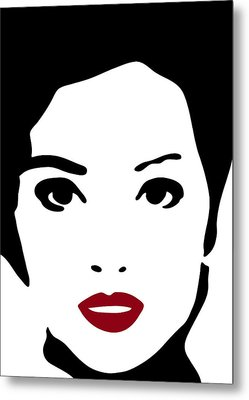 A Woman In Fashion Metal Print by Frank Tschakert