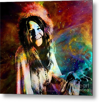 A Woman Of 1970 Rock And Roll Metal Print