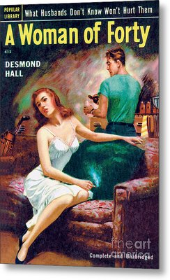 Metal Print featuring the painting A Woman Of Forty by Bernard Barton