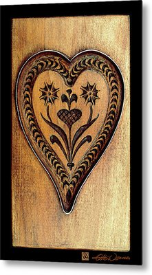 A Wooden Heart Metal Print by Hanne Lore Koehler