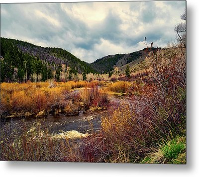 A Wyoming Autumn Day Metal Print by L O C