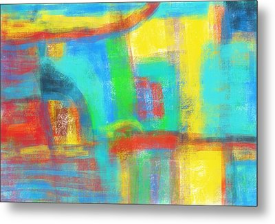 Metal Print featuring the painting A Yellow Day by Susan Stone