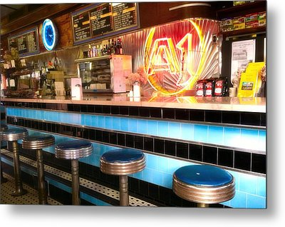 A1 Diner In Gardiner, Maine Metal Print