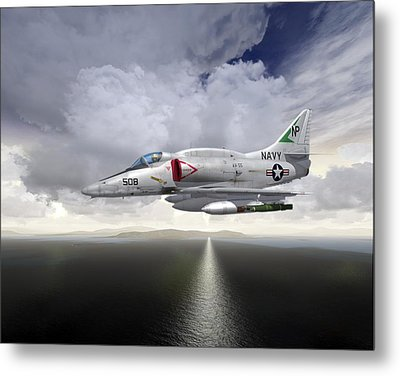 A4 Feet Wet Metal Print by Mike Ray