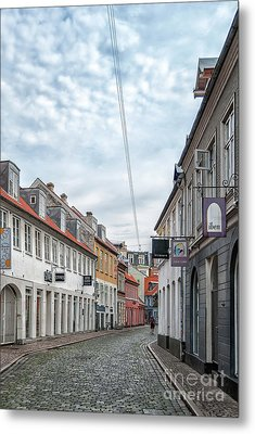 Metal Print featuring the photograph Aarhus Backstreet Scene by Antony McAulay