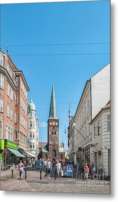 Metal Print featuring the photograph Aarhus Street Scene by Antony McAulay