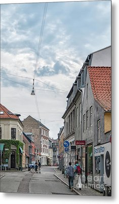 Metal Print featuring the photograph Aarhus Urban Scene by Antony McAulay