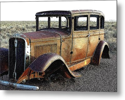 Abandonded Along Rt 66 Metal Print