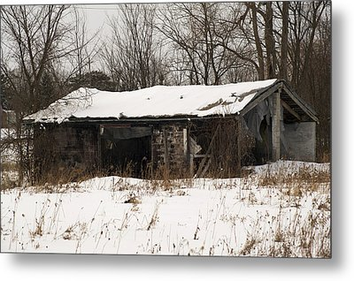 Abandoned And Cold Metal Print by Elaine Mikkelstrup