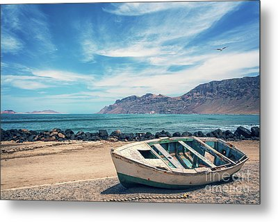 Abandoned Boat Metal Print by Delphimages Photo Creations