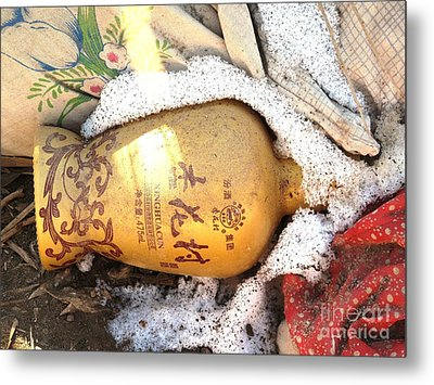 Metal Print featuring the photograph Abandoned Bottle by Ethna Gillespie