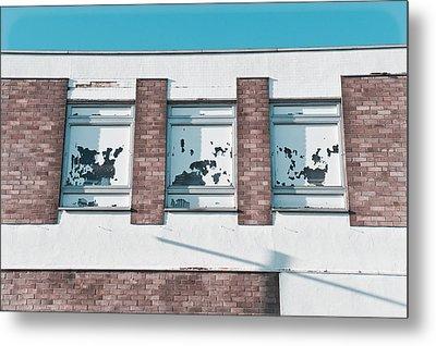 Abandoned Building Metal Print by Tom Gowanlock