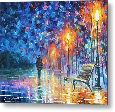 Abandoned By Winter Metal Print by Leonid Afremov